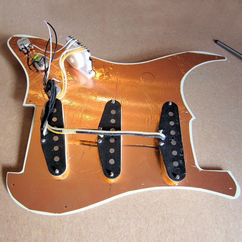 Multi-usages-22-5-x-30-cm-Ruban-adhesif-de-protection-en-cuivre-pour-guitare-S1M miniature 11