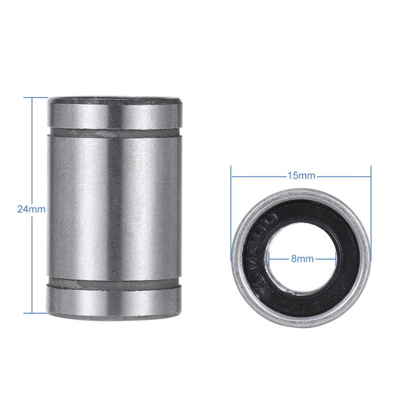 2X(Ball Bushing Linear Motion 8mm x 15mm x 24mm Double Sealed 10 Pcs Q8H5) P1 2