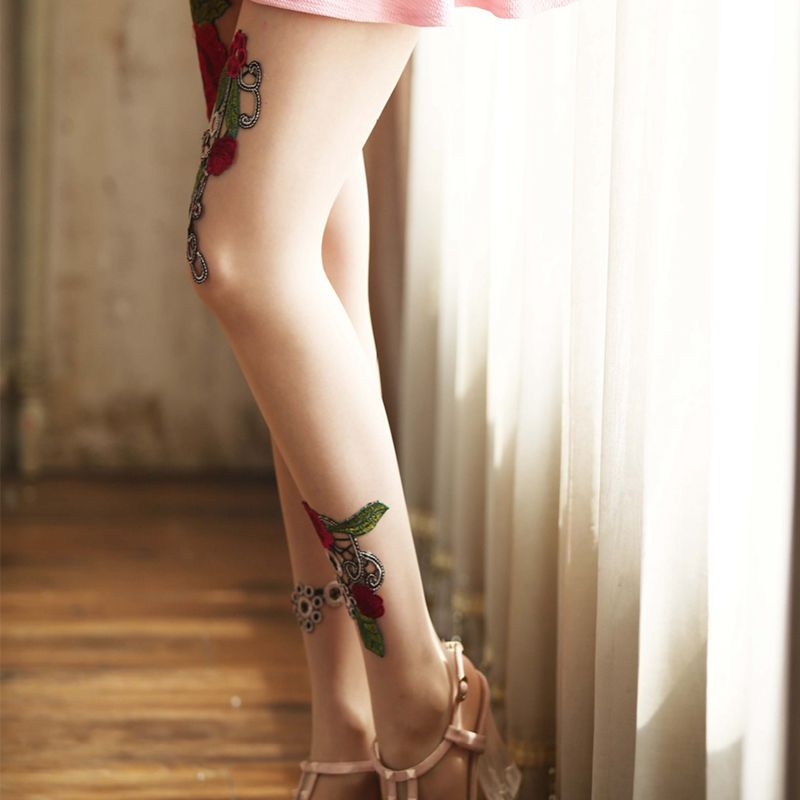 High-quality-Women-039-s-Sexy-High-Waist-Tight-Flower-Embroidery-Stockings-ling-W1L6 thumbnail 12