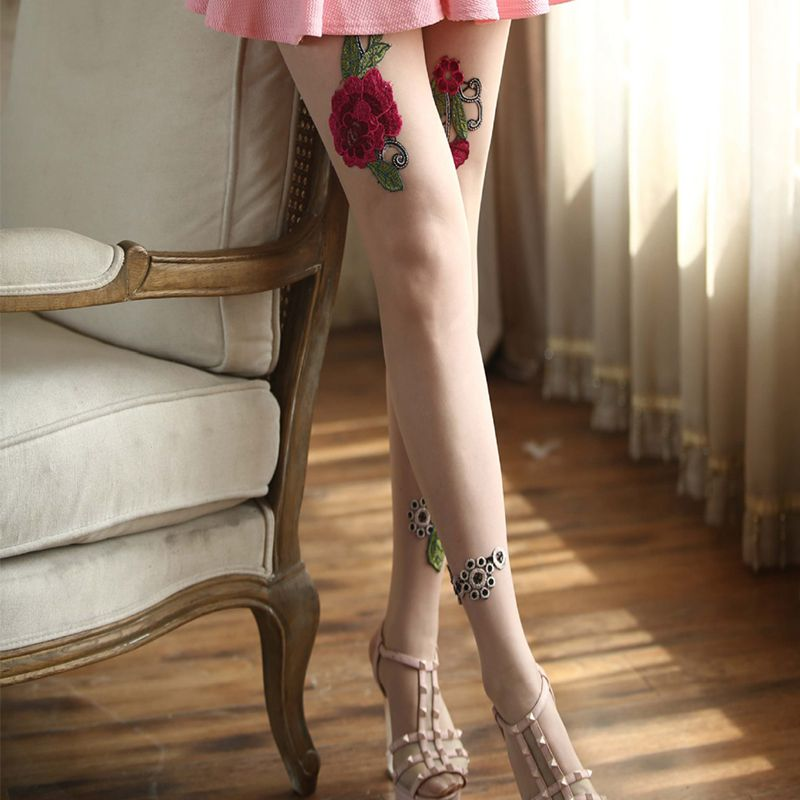 High-quality-Women-039-s-Sexy-High-Waist-Tight-Flower-Embroidery-Stockings-ling-W1L6 thumbnail 13