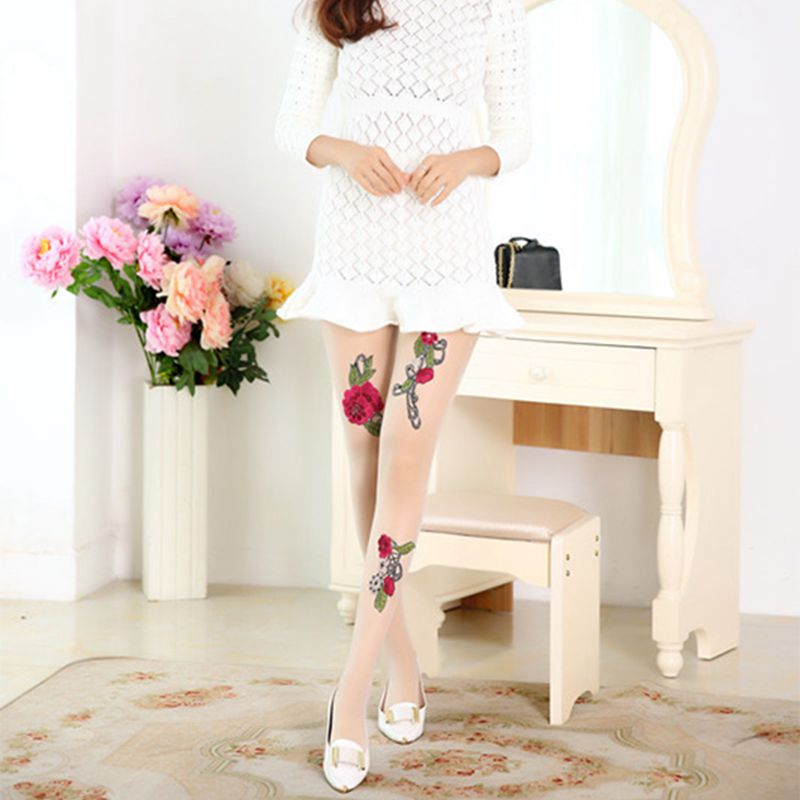 High-quality-Women-039-s-Sexy-High-Waist-Tight-Flower-Embroidery-Stockings-ling-W1L6 thumbnail 15