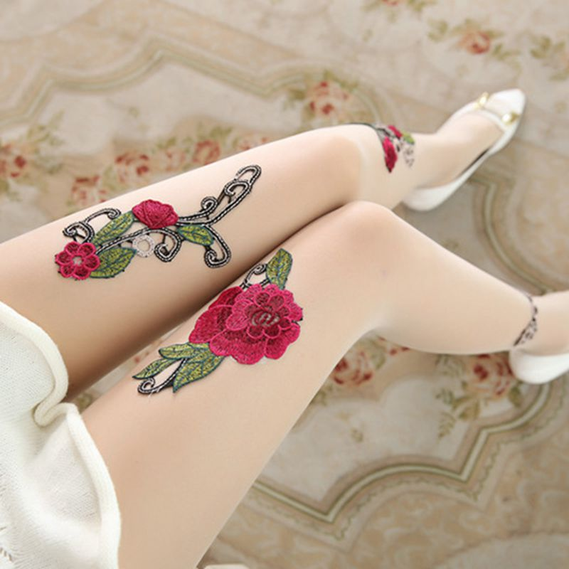 High-quality-Women-039-s-Sexy-High-Waist-Tight-Flower-Embroidery-Stockings-ling-W1L6 thumbnail 16