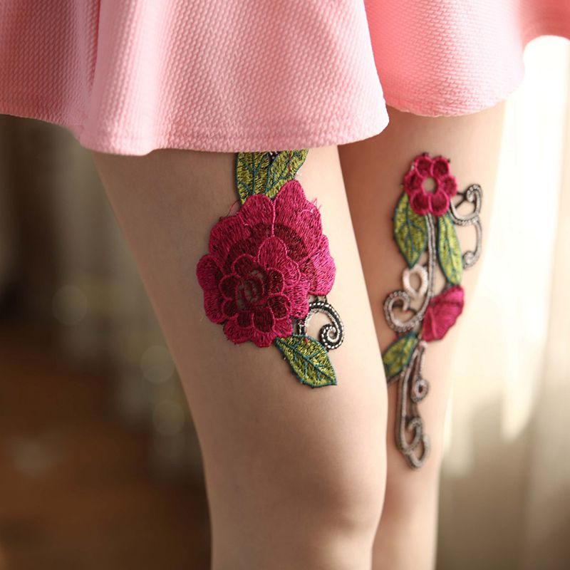 High-quality-Women-039-s-Sexy-High-Waist-Tight-Flower-Embroidery-Stockings-ling-W1L6 thumbnail 18