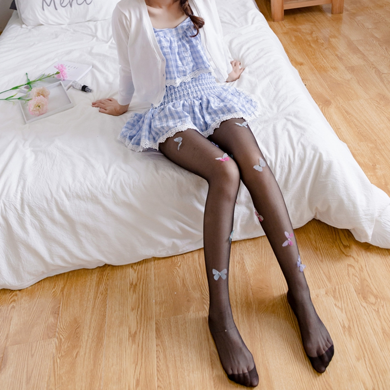 Lolita-Tights-Stockings-for-Women-Girl-039-s-Pantyhose-Design-cute-Butterfly-Ta-A5G5 thumbnail 7