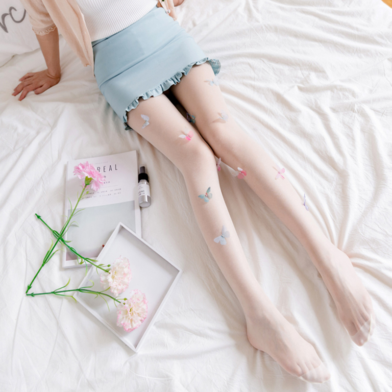 Lolita-Tights-Stockings-for-Women-Girl-039-s-Pantyhose-Design-cute-Butterfly-Ta-A5G5 thumbnail 13