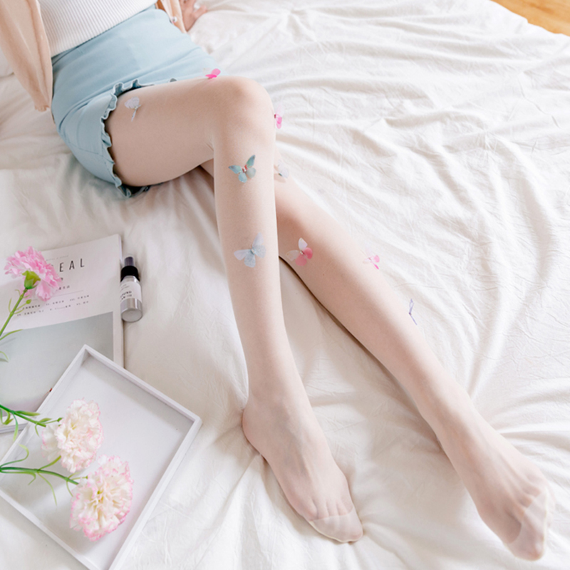 Lolita-Tights-Stockings-for-Women-Girl-039-s-Pantyhose-Design-cute-Butterfly-Ta-A5G5 thumbnail 17