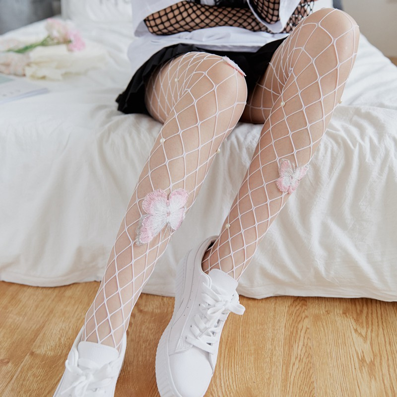 Women-Sexy-Fishnet-Body-Fishnet-Butterfly-Pantyhose-Party-Tights-Stocking-T-C8U9 thumbnail 6