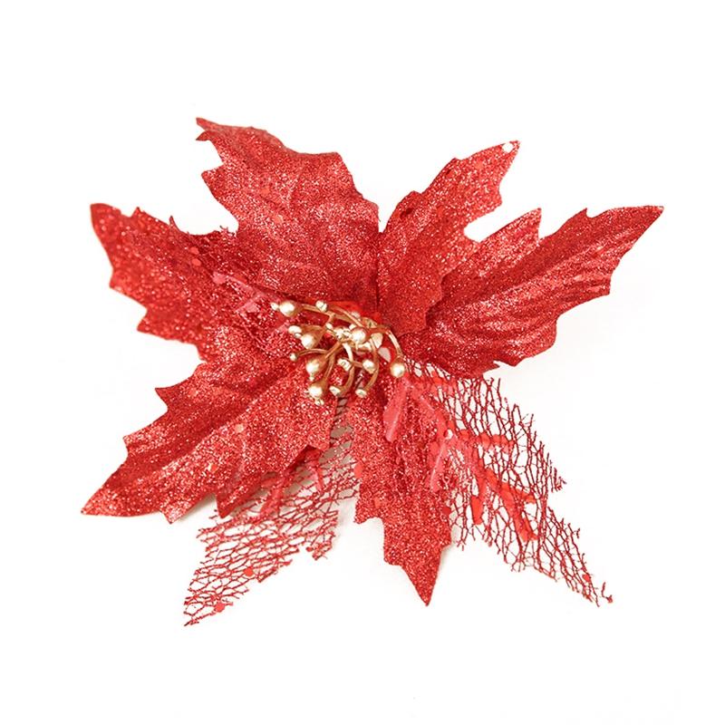 5X-Scintillio-della-decorazione-Stella-di-Natale-Albero-di-Natale-ornamentiC3L3 miniatura 2