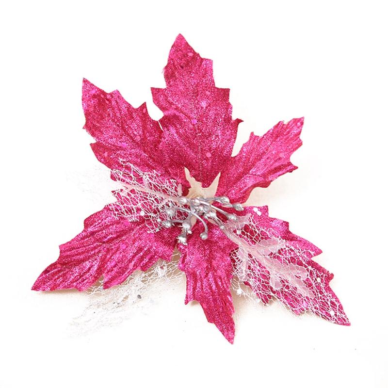 Rosa Weihnachtsbaum.Rosa Flitter Adventsstern Weihnachtsbaum Ornamente Kuenstliche