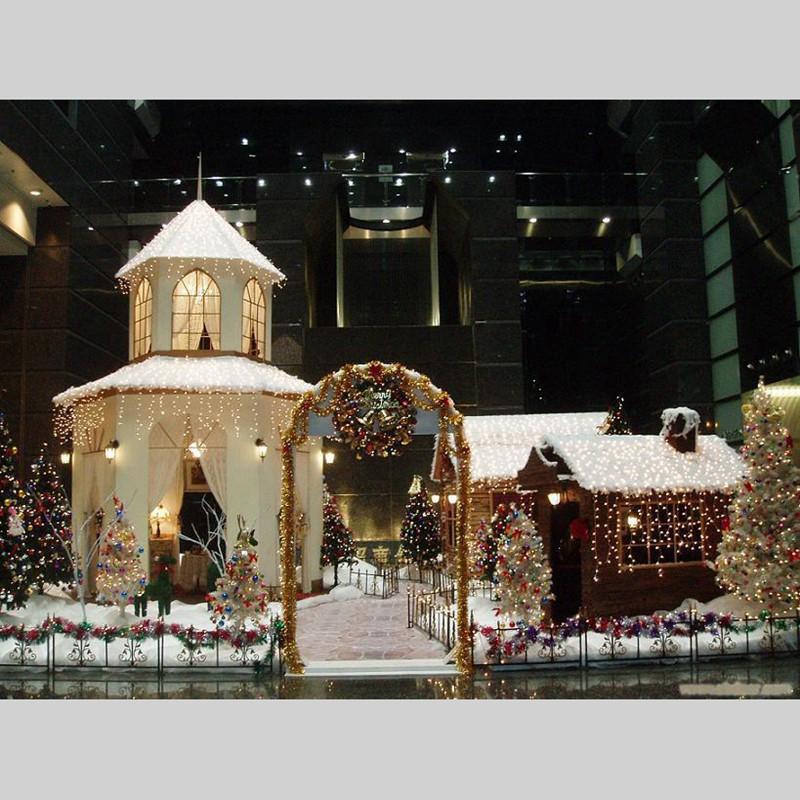 Glitter-Poinsettia-Christmas-Tree-Ornaments-Artificial-Flower-Wedding-Party-B8B5 thumbnail 30