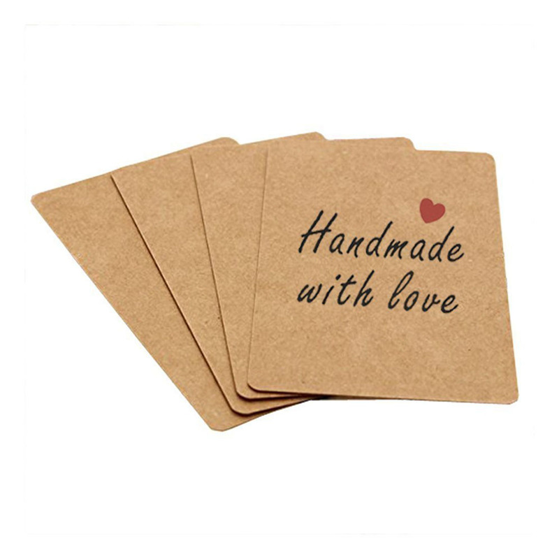 100pcs blank kraft paper business cards word card message card diy it is as kraft paper card blank kraft cardboard word card message card diy blank gift card 100pcs each box you can according to your idea to reheart Image collections