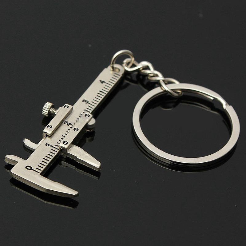 Utile Mini Vernier Etrier outil pendentif Slider Slides Porte-clefs Porte-cle 1X
