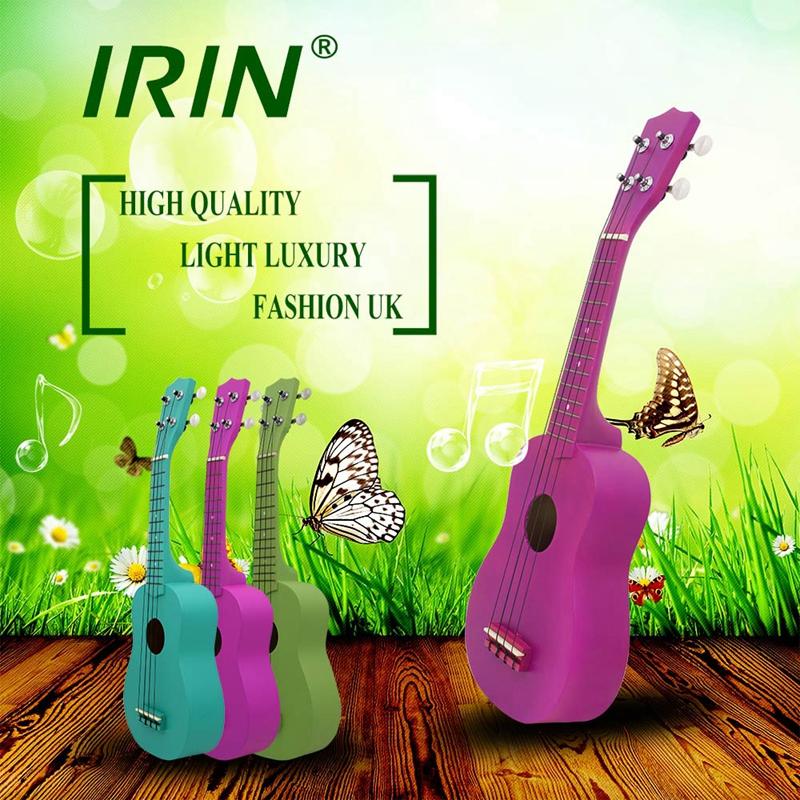 IRIN-Ukulele-21-pollici-chitarra-4-corde-Hawaii-chitarra-acustica-strumento-P5K3 miniatura 11