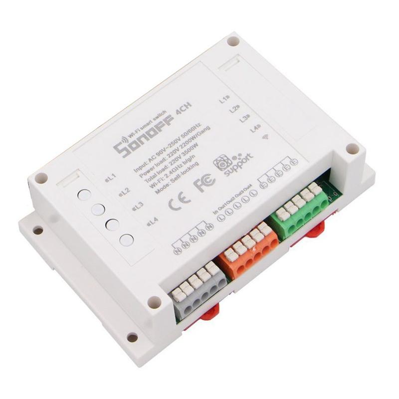 Sonoff-4CH-Interruptor-inteligente-Wi-Fi-de-montaje-en-riel-DIN-de-4-canales-ST