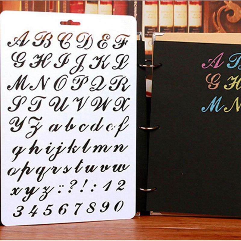 letra y número de plantilla Pintura Arte de Papel alphabe C6Q9 Plantillas De Letras