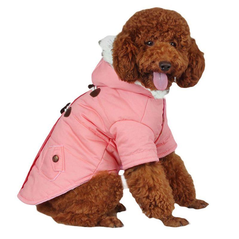 brigo-con-capucha-Mini-chaqueta-de-perro-linda-Traje-de-algodon-Teddy-Inform-PB miniatura 3