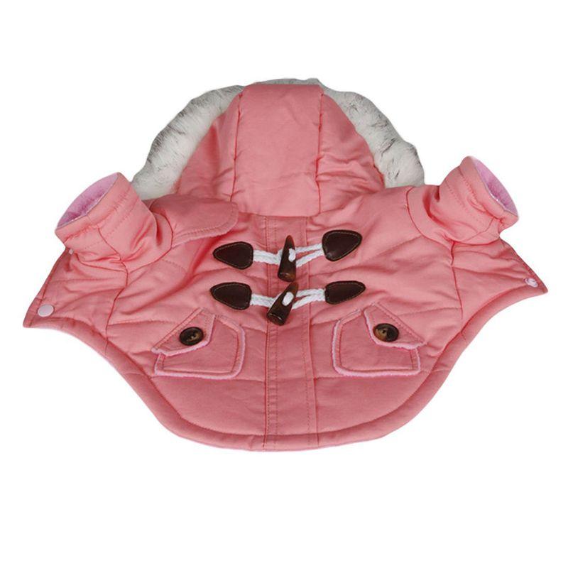 brigo-con-capucha-Mini-chaqueta-de-perro-linda-Traje-de-algodon-Teddy-Inform-PB miniatura 5
