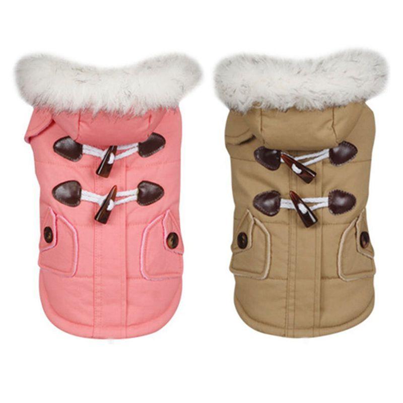 brigo-con-capucha-Mini-chaqueta-de-perro-linda-Traje-de-algodon-Teddy-Inform-PB miniatura 9