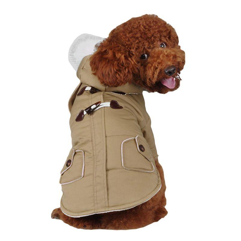 brigo-con-capucha-Mini-chaqueta-de-perro-linda-Traje-de-algodon-Teddy-Inform-PB miniatura 12