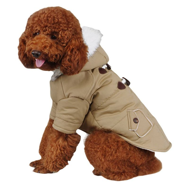 brigo-con-capucha-Mini-chaqueta-de-perro-linda-Traje-de-algodon-Teddy-Inform-PB miniatura 13