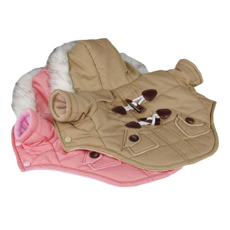 brigo-con-capucha-Mini-chaqueta-de-perro-linda-Traje-de-algodon-Teddy-Inform-PB miniatura 14