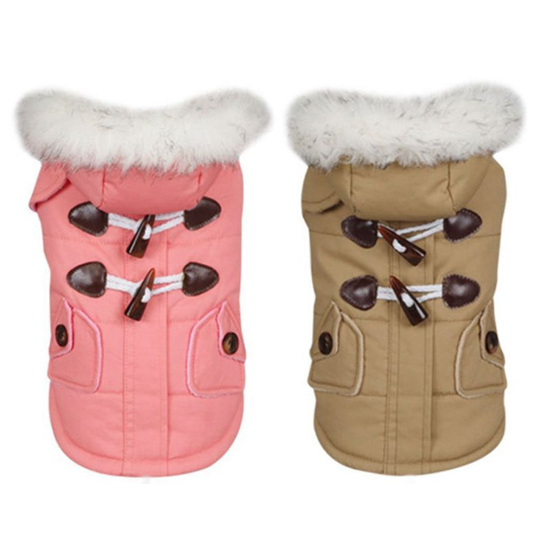 brigo-con-capucha-Mini-chaqueta-de-perro-linda-Traje-de-algodon-Teddy-Inform-PB miniatura 16