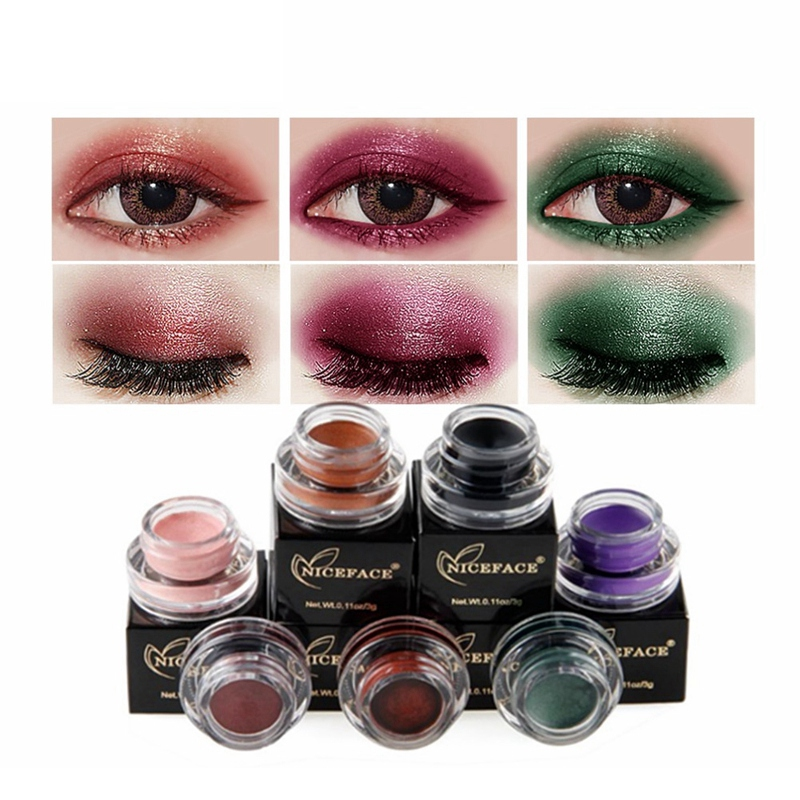 NICEFACE-Creme-de-fard-a-paupieres-Ombre-a-paupieres-de-maquillage-metallique-26 miniature 23