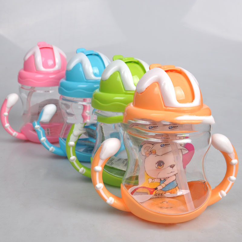 thumbnail 6 - 320ml Baby Bottle Kids Cup Silicone Children Training Cups Cute Baby Drinki D1G8