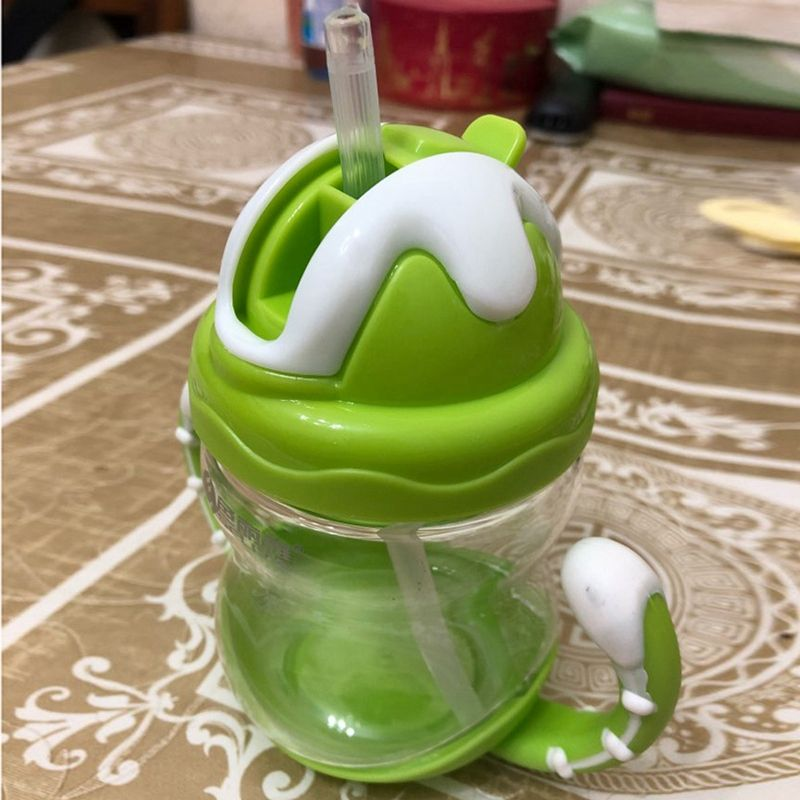 thumbnail 11 - 320ml Baby Bottle Kids Cup Silicone Children Training Cups Cute Baby Drinki D1G8