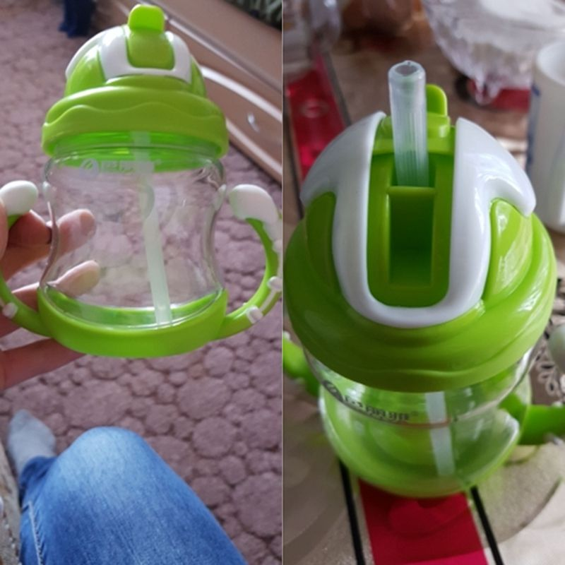 thumbnail 15 - 320ml Baby Bottle Kids Cup Silicone Children Training Cups Cute Baby Drinki D1G8