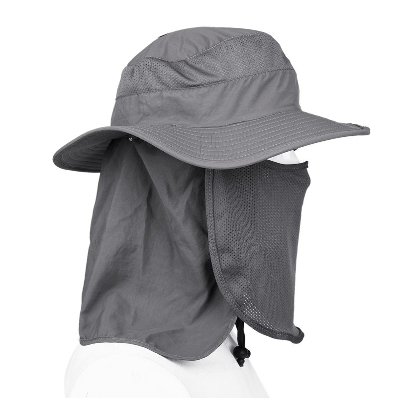 UV Protection Face Neck Flap Sun Fishing Hat Mask Fishing Hat ... 0f41dfd17d2d