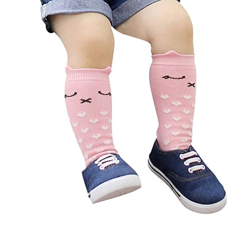 Bebe-Fille-Garcon-Chaussettes-de-dessin-anime-pour-enfants-Coton-peigne-Chaus-SC miniature 3