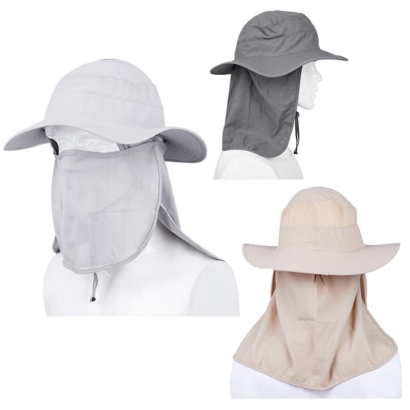 Gorra de pesca de proteccion solar para el sol al aire libre de verano de  moda con solapa de cuello cara (las banderas son extraibles) 6a51ae95ff9