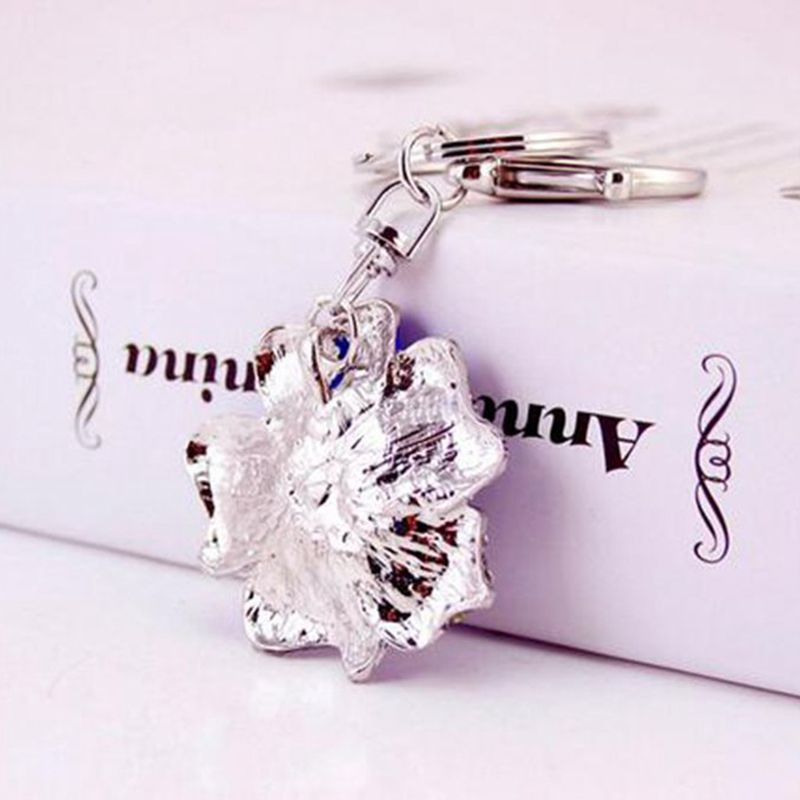 Rose-Shape-Crystal-Keychain-Key-Chain-Sparkling-Key-Ring-Charm-Purse-Pendan-Y2U5 thumbnail 5