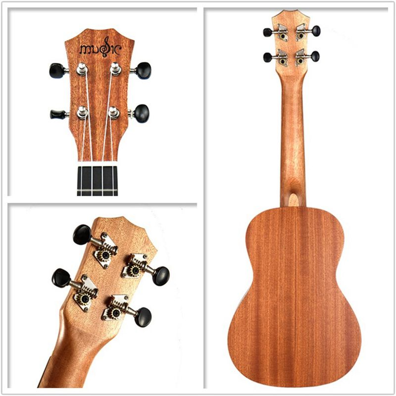 Ukulele-Uke-4-Corde-in-nylon-Sapele-in-palissandro-chitarra-Dolphin-modello-D9G9 miniatura 6