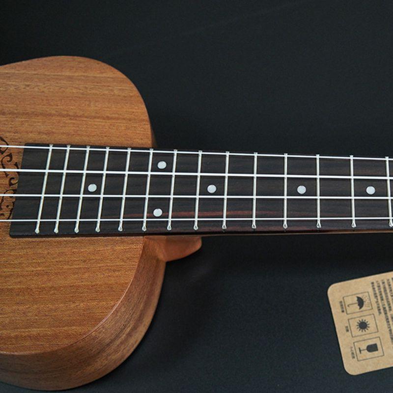 Ukulele-Uke-4-Corde-in-nylon-Sapele-in-palissandro-chitarra-Dolphin-modello-D9G9 miniatura 9
