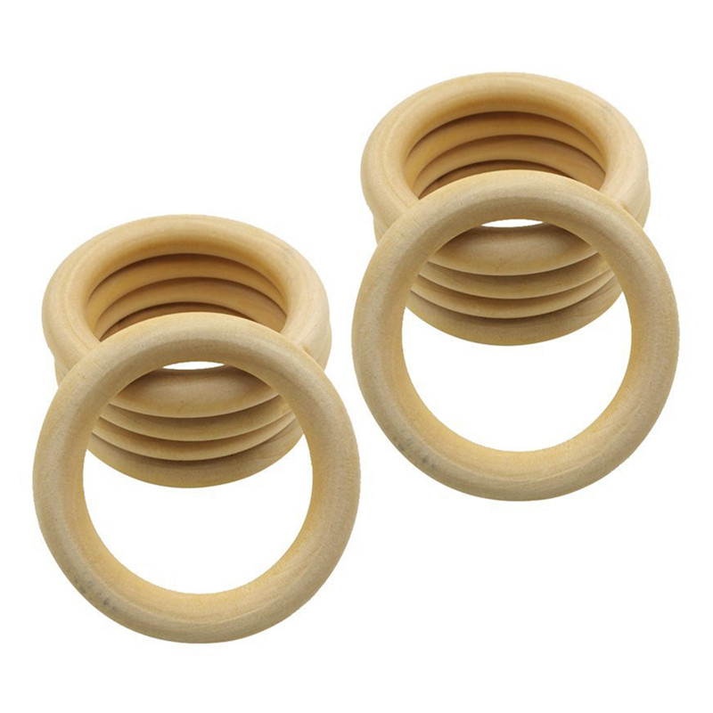 Details About 10 Pcs Natural Wooden Ring Jewelry Making Unfinished Diy Crafts 70 Mm U7l6