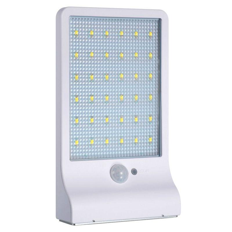 2 Pcs Lampe solaire 36 LED sans fil etanche avec detecteur de ...