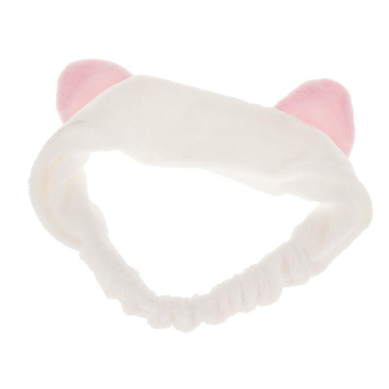 2X-Ornamento-per-capelli-con-l-039-orecchio-di-gatto-per-il-lavaggio-del-viso-J5W8 miniatura 2