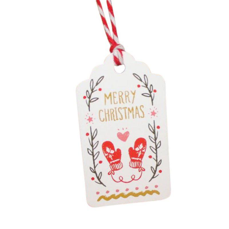 3X(50 Stueck Weihnachtsgeschenk Vintage-Tags Etiketten Papier ...