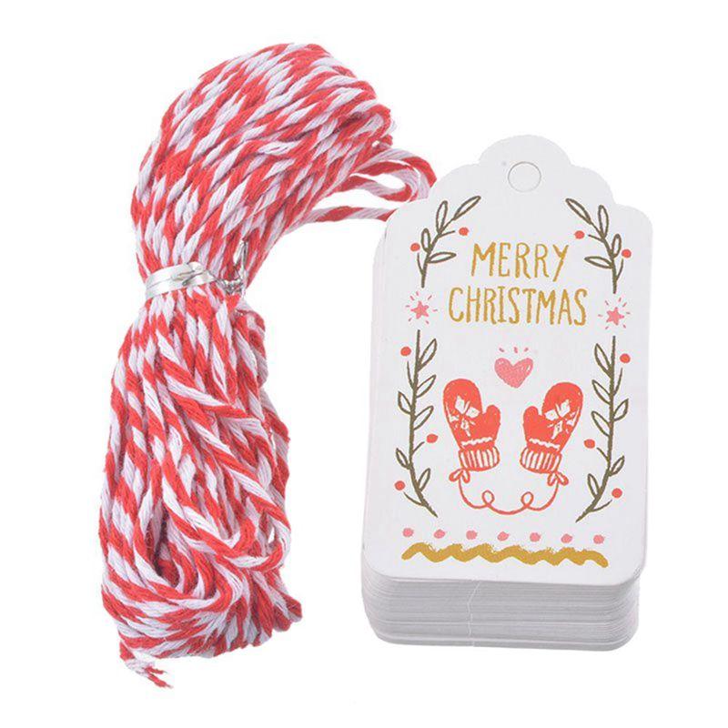 50 Stueck Weihnachtsgeschenk Vintage-Tags Etiketten Papier Geschenke ...