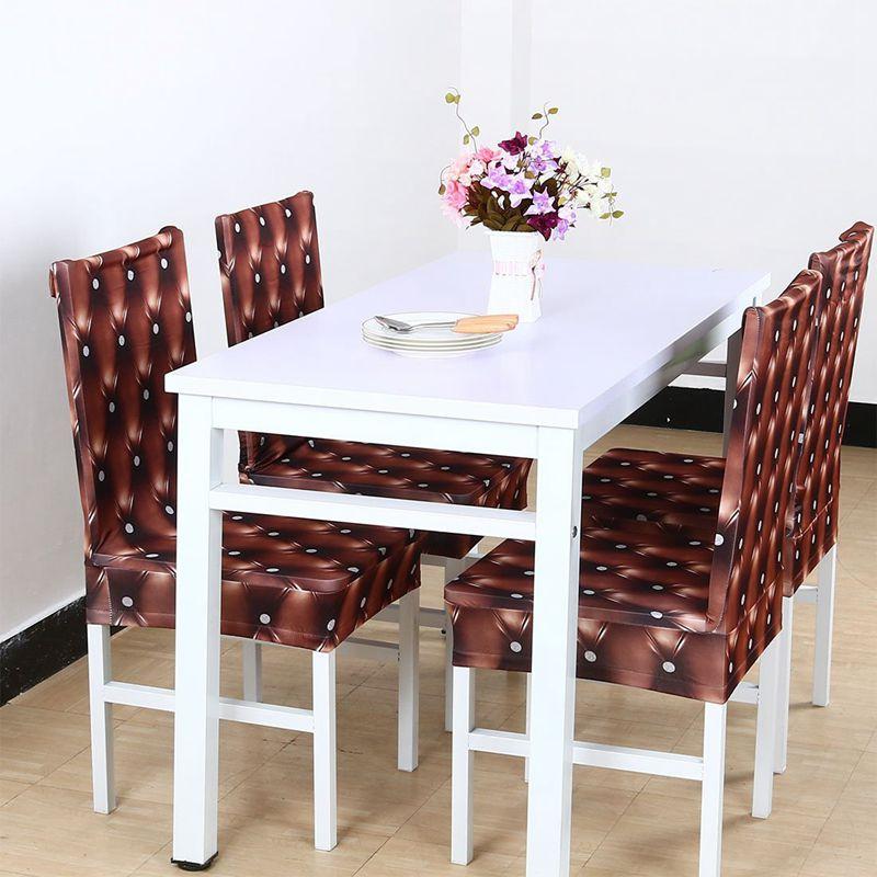 Couverture-de-chaise-extensible-de-salle-a-manger-Housses-de-chaise-courtes-L-SC miniature 3