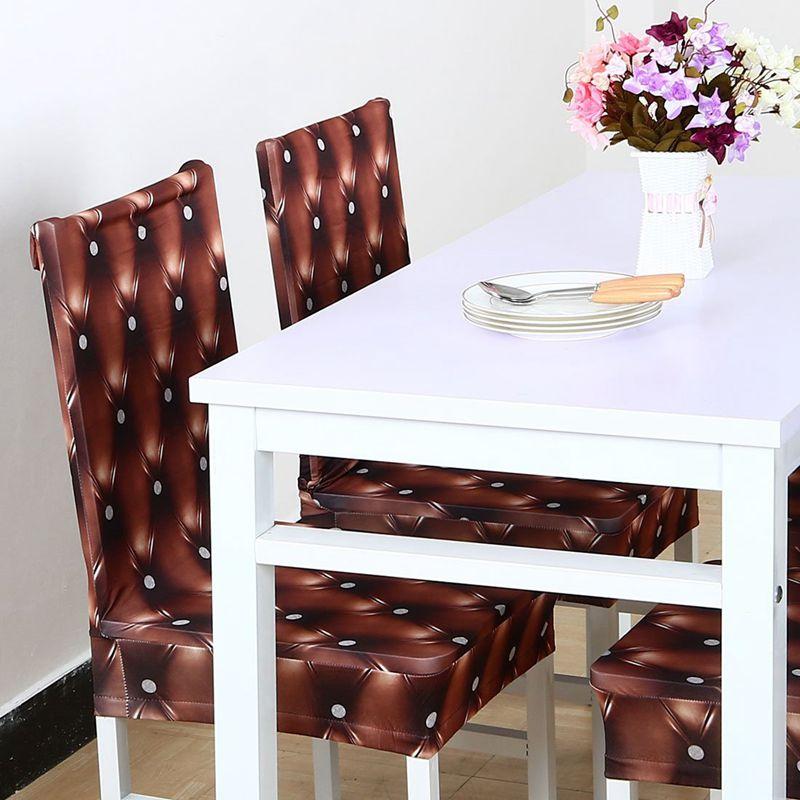 Couverture-de-chaise-extensible-de-salle-a-manger-Housses-de-chaise-courtes-L-SC miniature 6