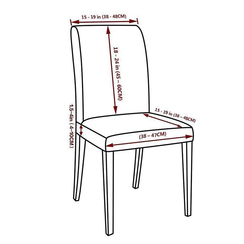 Couverture-de-chaise-extensible-de-salle-a-manger-Housses-de-chaise-courtes-L-SC miniature 8