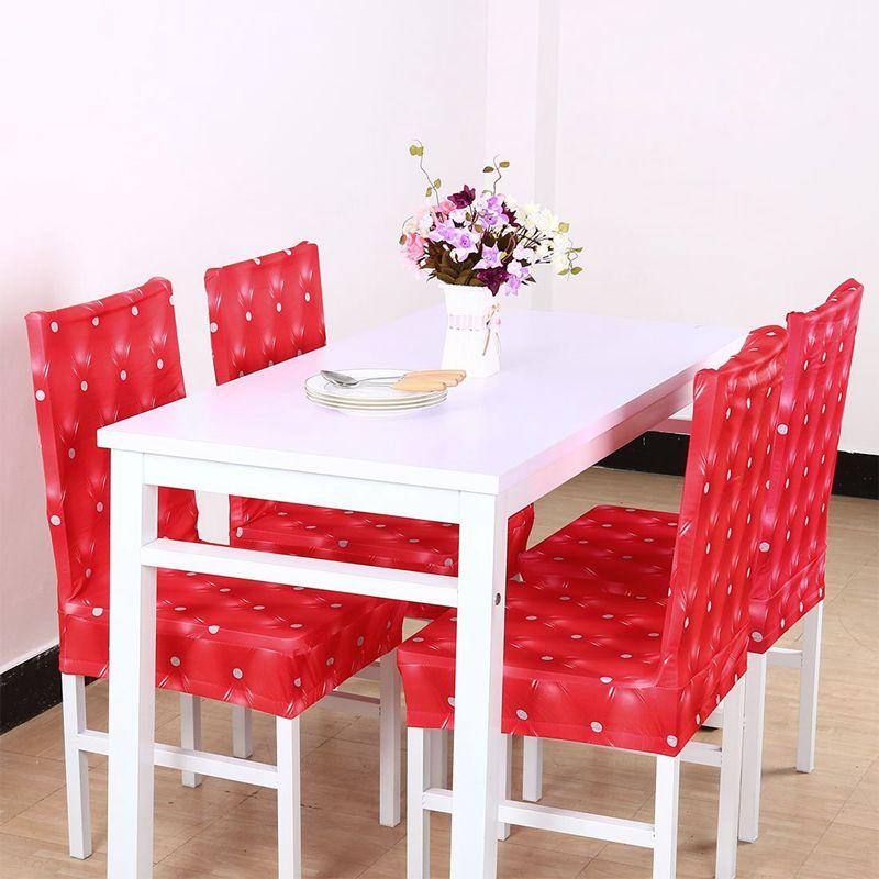 Couverture-de-chaise-extensible-de-salle-a-manger-Housses-de-chaise-courtes-L-SC miniature 10