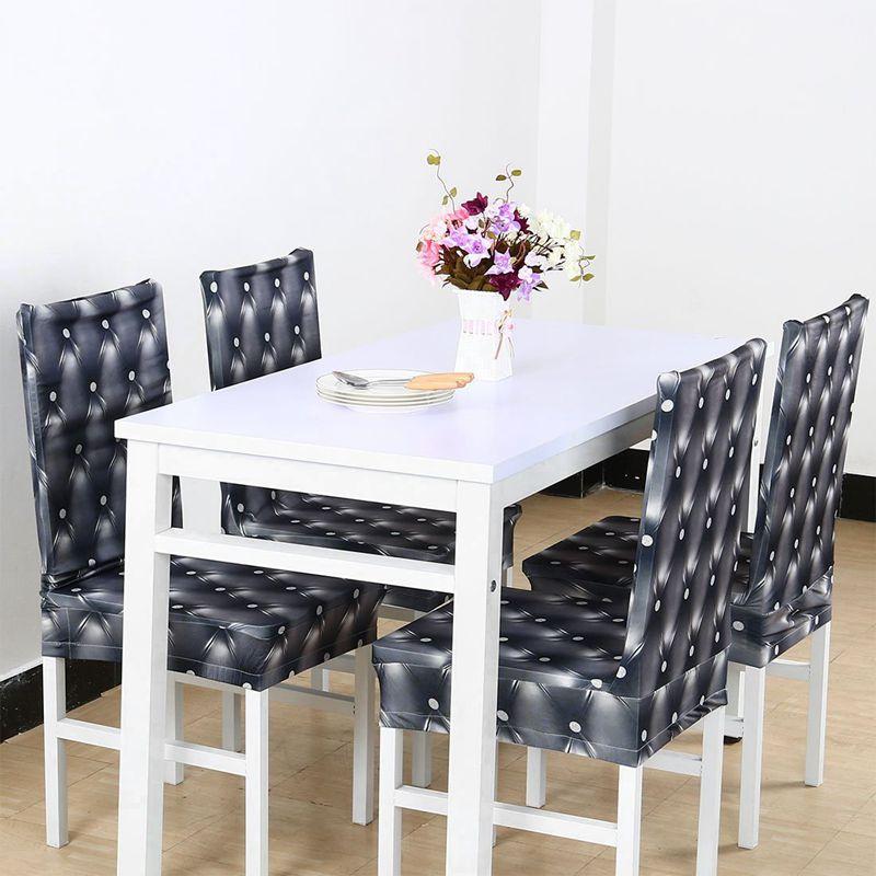 Couverture-de-chaise-extensible-de-salle-a-manger-Housses-de-chaise-courtes-L-SC miniature 17
