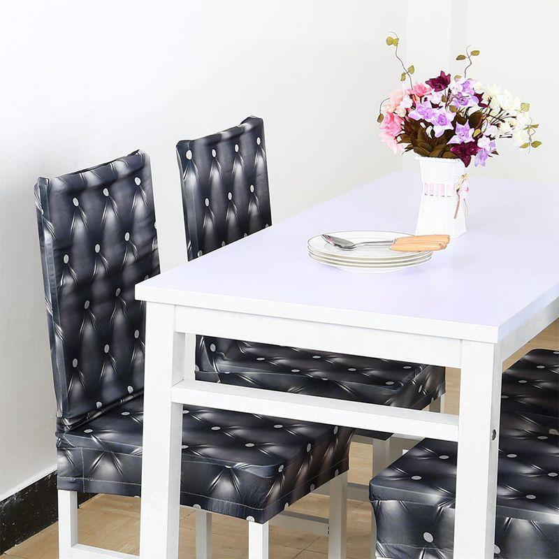 Couverture-de-chaise-extensible-de-salle-a-manger-Housses-de-chaise-courtes-L-SC miniature 20