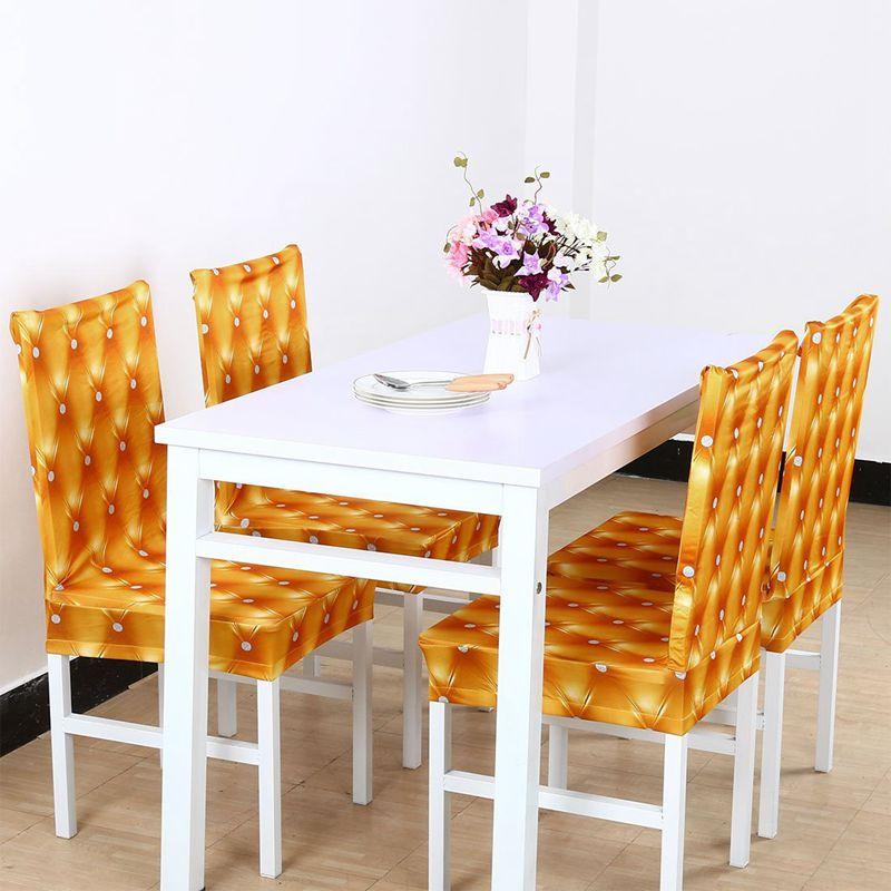 Couverture-de-chaise-extensible-de-salle-a-manger-Housses-de-chaise-courtes-L-SC miniature 24