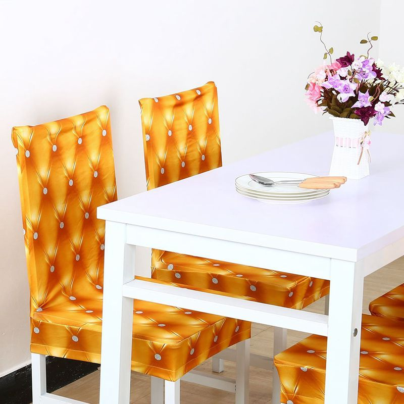 Couverture-de-chaise-extensible-de-salle-a-manger-Housses-de-chaise-courtes-L-SC miniature 25