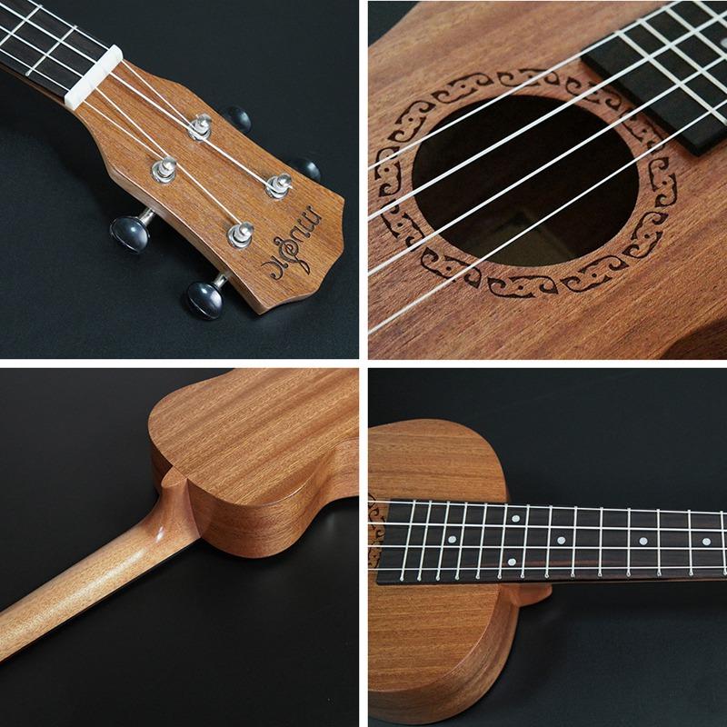 Ukulele-de-concert-4-cordes-Hawaiian-Mini-guitare-Instruments-de-musique-pour-68 miniature 4